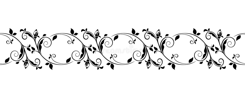 Horizontale nahtlose Weinlesevignette Auch im corel abgehobenen Betrag vektor abbildung