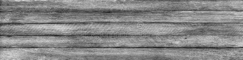 Horizontale panoramische retro grungeachtergrond van houten planken stock foto's