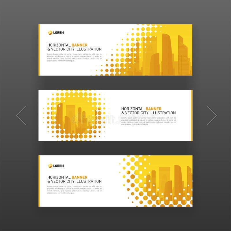 Horizontale reclame bedrijfsbannerlay-out vector illustratie