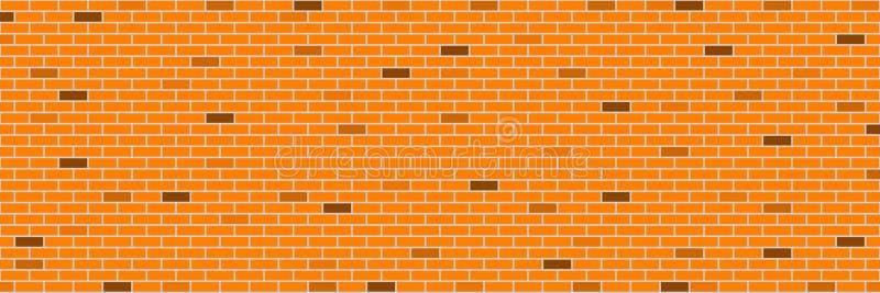 horizontale Retro- orange Backsteinmauer für Muster und Hintergrund, VE lizenzfreie abbildung