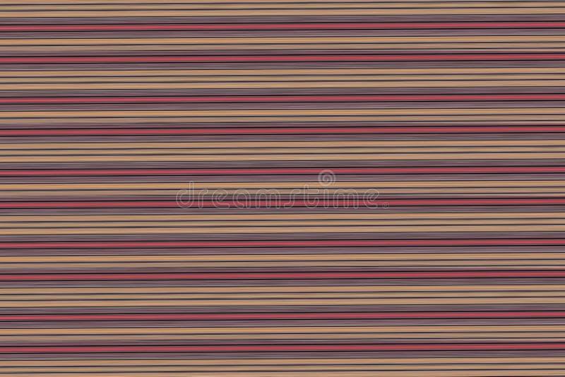 Horizontale rote Linien des dunklen beige silbernen Hintergrundes kontrastieren Entwurfsholzbeschaffenheits-Effektstapel des Hint stockbilder
