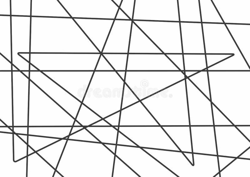 Horizontale Schablone mit nach dem Zufall schneidenen Linien vektor abbildung
