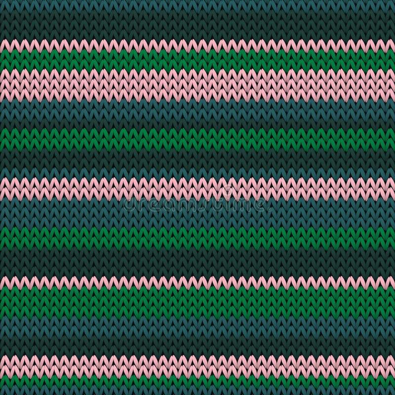 Horizontale strepen met afdichting, gebreide textuur royalty-vrije illustratie