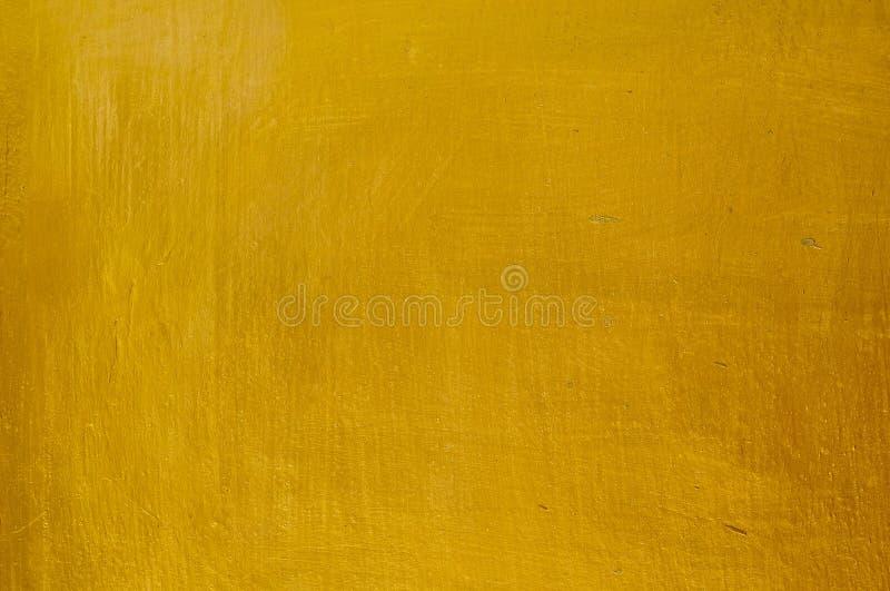 Horizontale Textuur van de Gouden Achtergrond van de Gipspleistermuur stock afbeelding