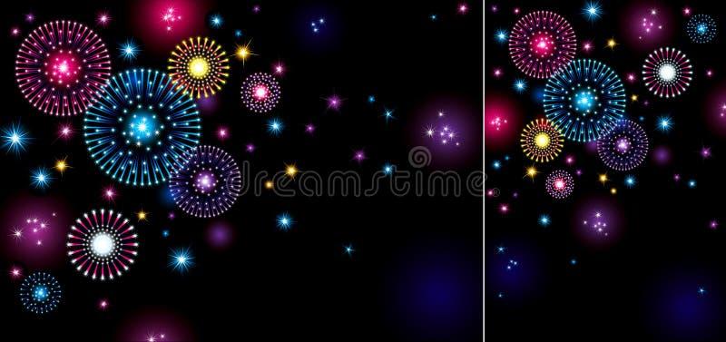 Feiertags-Feuerwerke lizenzfreie abbildung