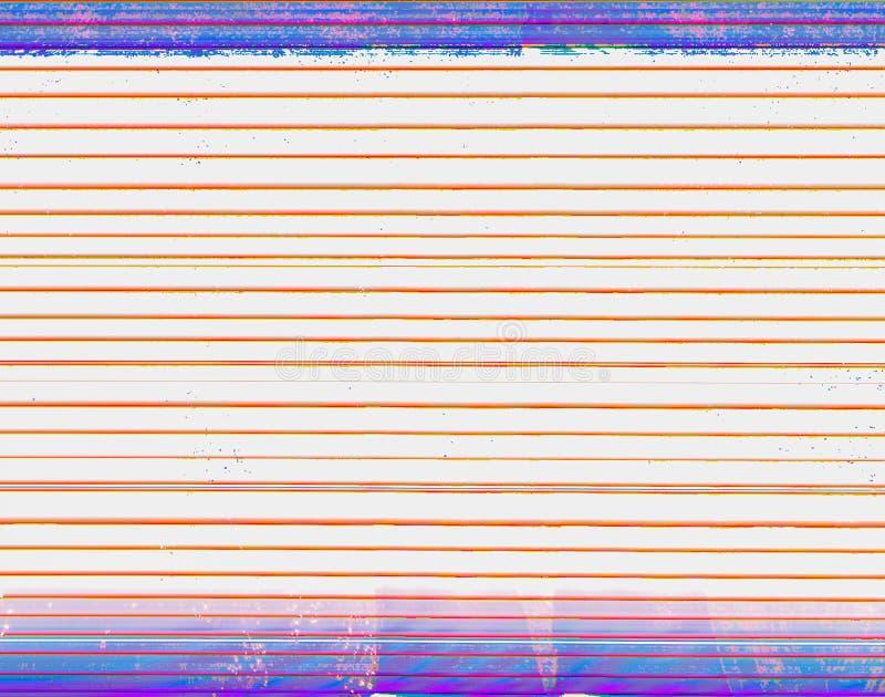 Horizontale unregelmäßige Linien der rot-orange Farbe und des Purpurs färbten Streifen von der Spitze und von der Unterseite des  lizenzfreies stockbild