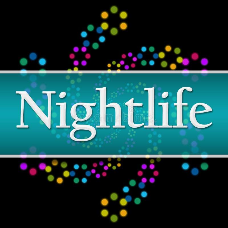 Horizontale Vierkant van het nachtleven het Donkere Kleurrijke Neon royalty-vrije illustratie