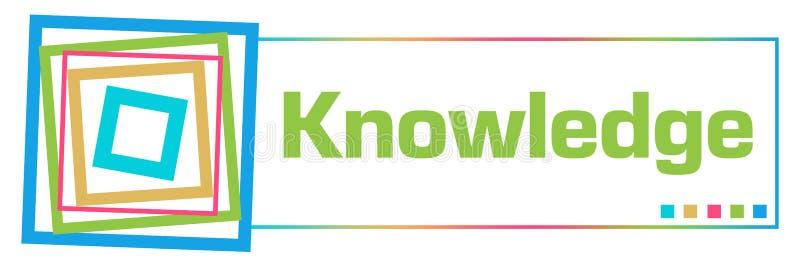 Horizontale Vierkant van kennis het Kleurrijke Grenzen royalty-vrije illustratie