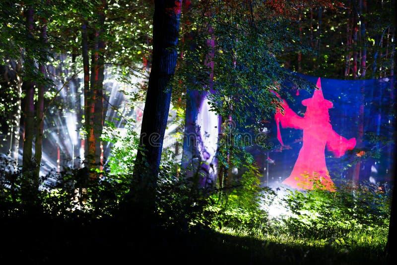 Download Horizontale Waldlandschaft Mit Magierhintergrund Stock Abbildung - Illustration von tourismus, auslegung: 96925715