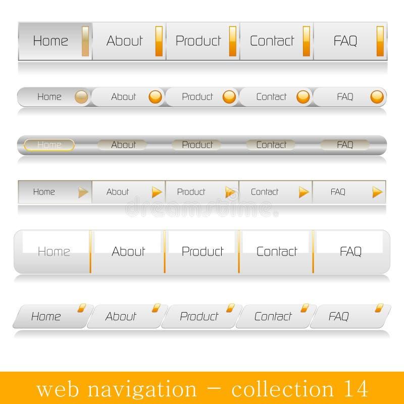 Horizontale Web-Navigationen stock abbildung