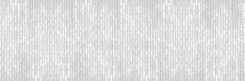 horizontale witte bakstenen muur voor patroon en achtergrond royalty-vrije stock foto