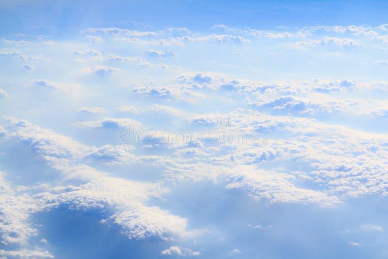 Horizontale wolken en rook royalty-vrije stock fotografie