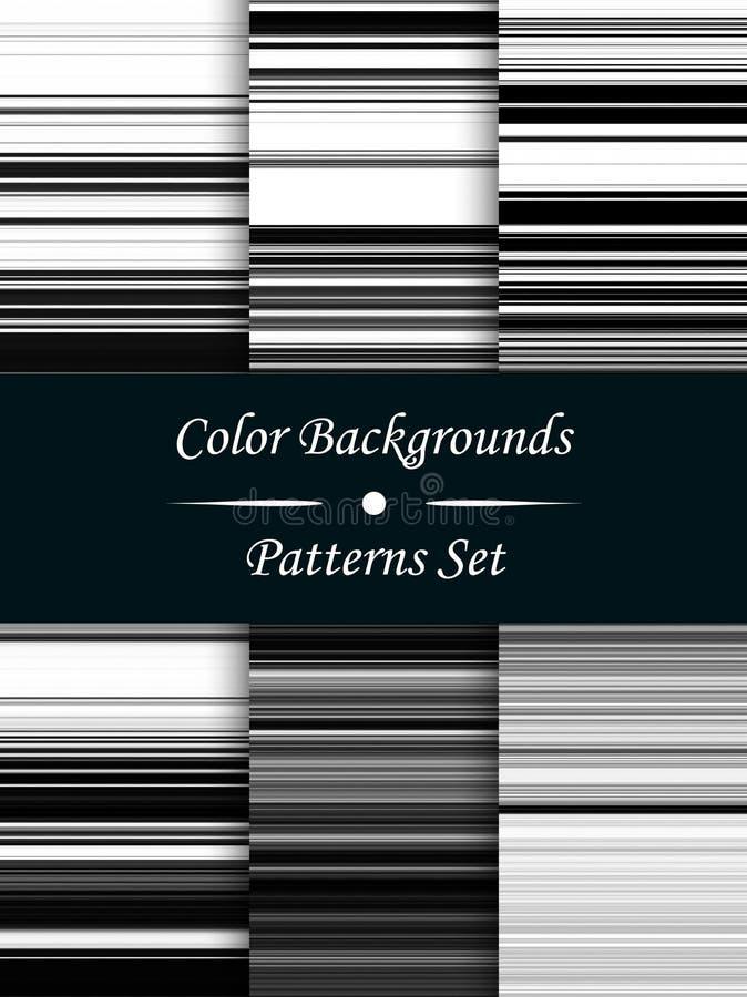 Horizontale zwart-witte strepen abstracte achtergrond, stretche royalty-vrije illustratie