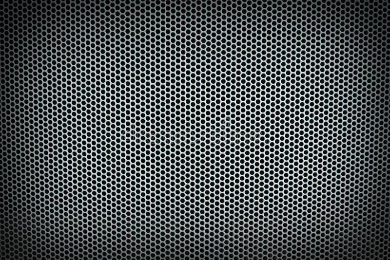 Horizontaler Hintergrund des Metallmaschen-Silbers stockbild
