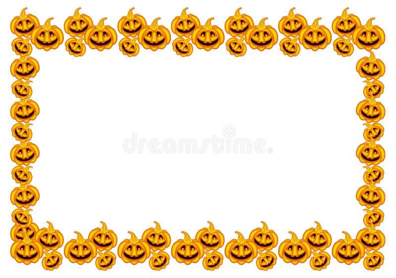Horizontaler Rahmen Halloween-Kürbise lizenzfreie abbildung