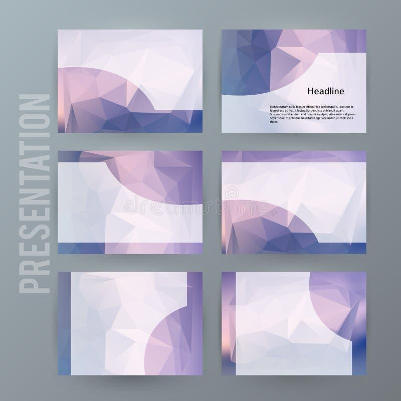Horizontales Fahnenhintergrund Gestaltungselement-PowerPoint-precentat lizenzfreies stockbild
