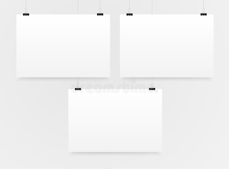 Horizontales Modell A4 des Plakat-drei Modell vektor abbildung