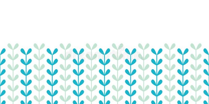 Horizontales nahtloses Muster der abstrakten Rebblätter lizenzfreie abbildung