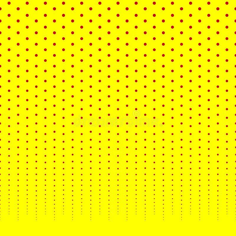 Horizontally powtarzalny halftone tło, wzoru fading dla/ royalty ilustracja