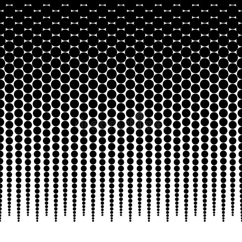 Horizontally powtarzalny halftone tło, wzoru fading dla/ ilustracji
