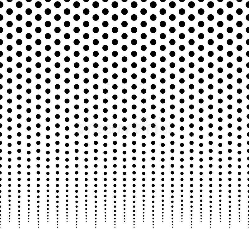 Horizontally powtarzalny halftone tło, wzoru fading dla/ ilustracja wektor