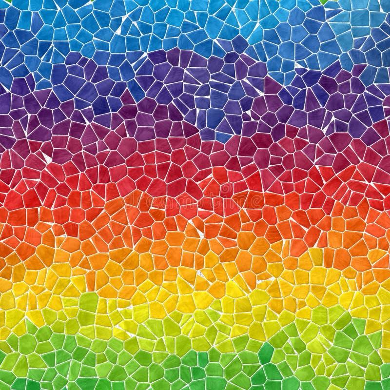 Free Horizontally Striped Rainbow Marble Irregular Plastic Stony Mosaic Pattern Texture Background With Gray Grout - F Stock Photos - 78224193