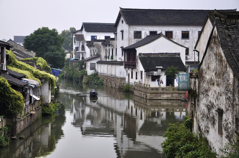 Horizontaux de village de la Chine Shaoxing photographie stock