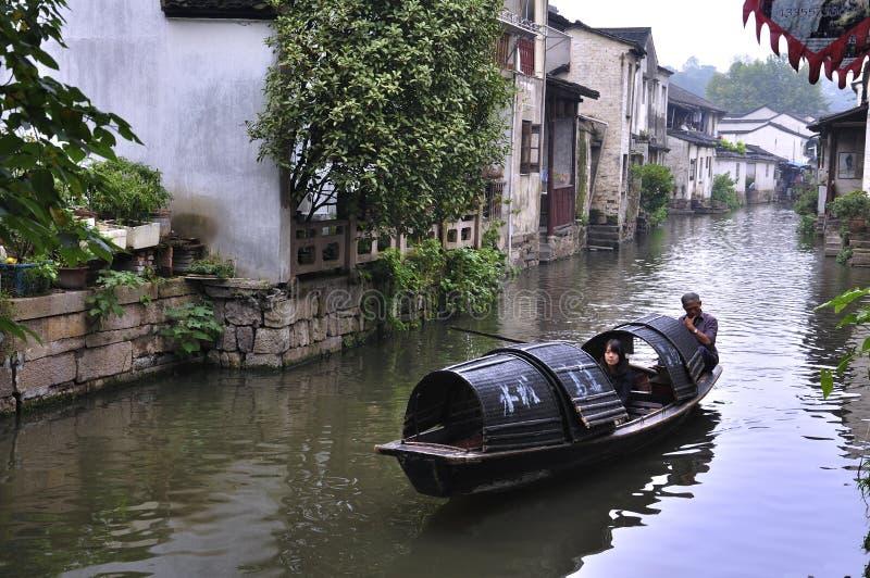 Horizontaux de village de la Chine Shaoxing photo libre de droits