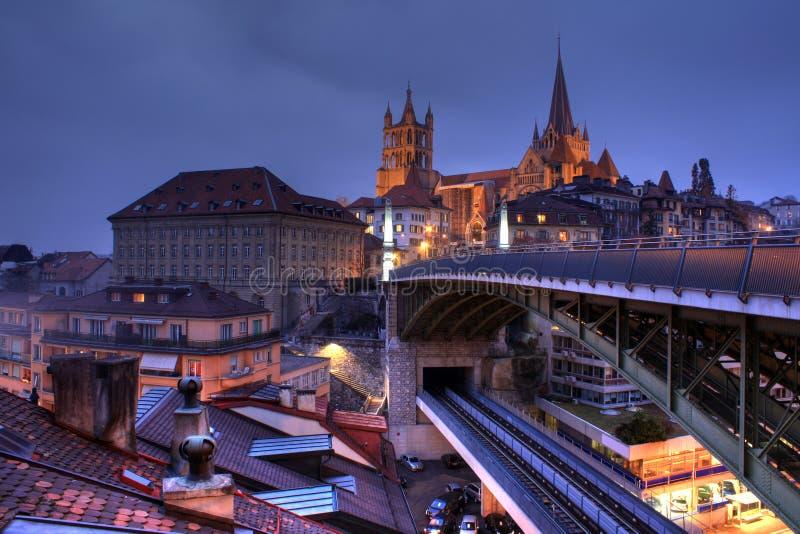 Horizonte 02, Suiza de Lausanne fotos de archivo libres de regalías