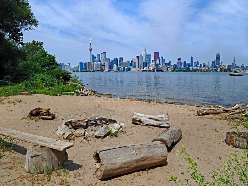 Horizonte céntrico de la costa de Toronto foto de archivo
