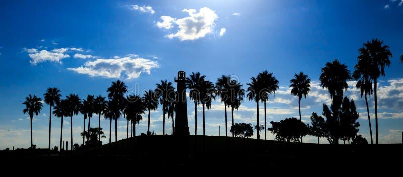 Horizonte céntrico de Los Ángeles fotografía de archivo libre de regalías