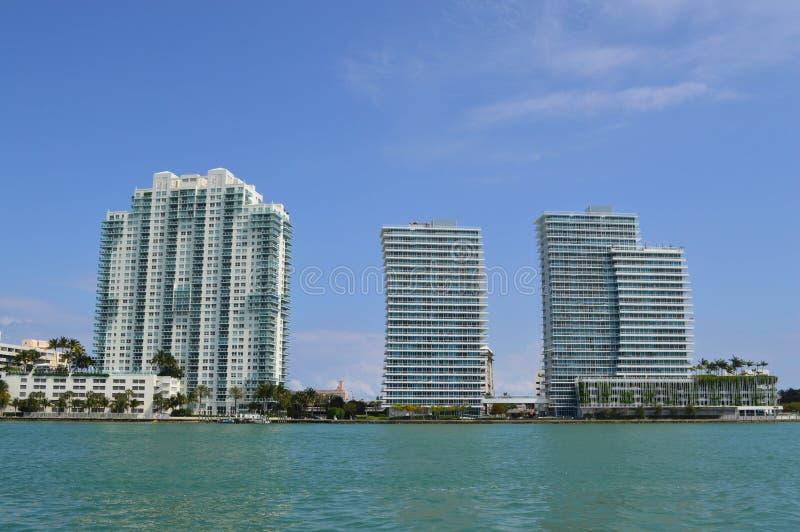 Horizonte céntrico de Miami fotografía de archivo