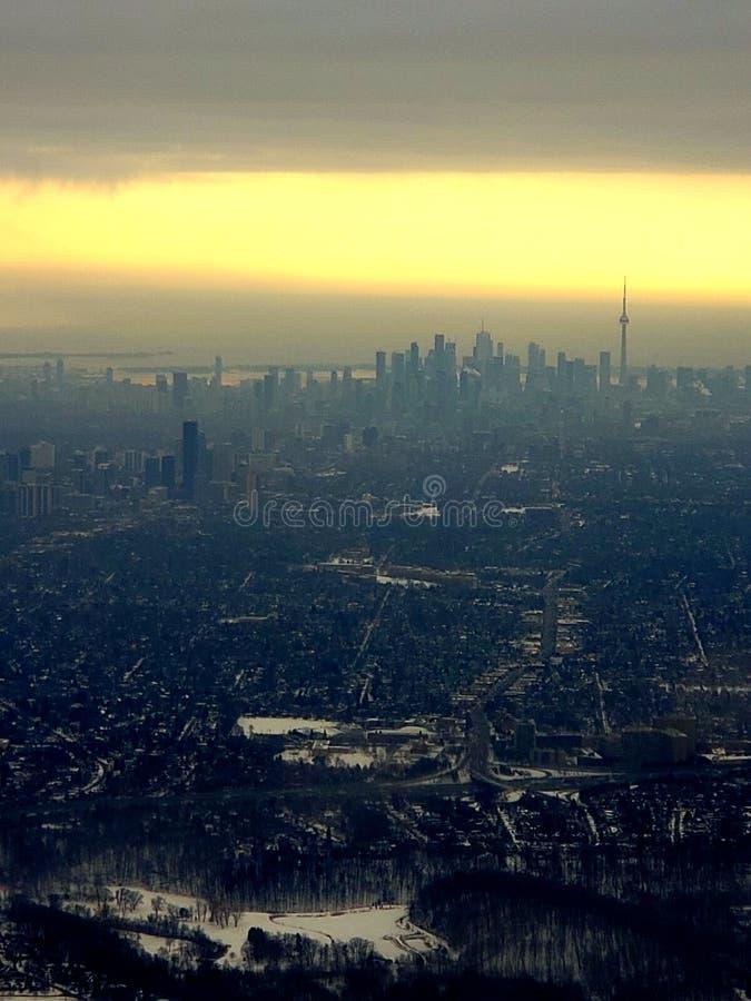 Horizonte c?ntrico de Toronto fotografía de archivo libre de regalías