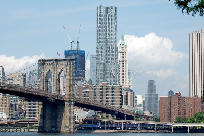Horizonte cambiante de Manhattan fotografía de archivo