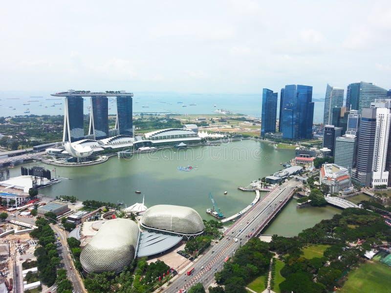 Horizonte central del distrito financiero de Singapur imagen de archivo libre de regalías