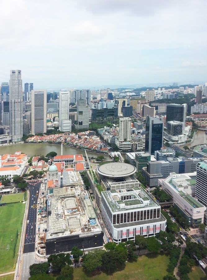 Horizonte central del distrito financiero de Singapur foto de archivo