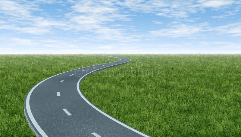 Horizonte con la carretera curvada libre illustration