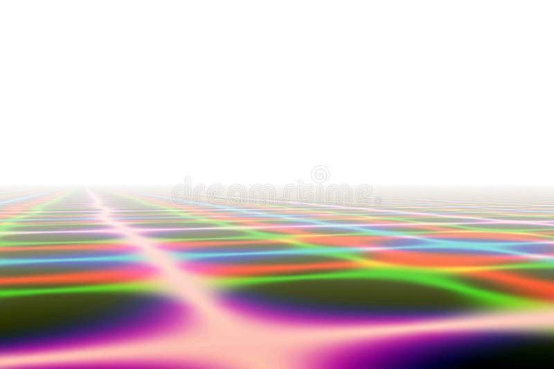 Horizonte da cor ilustração do vetor