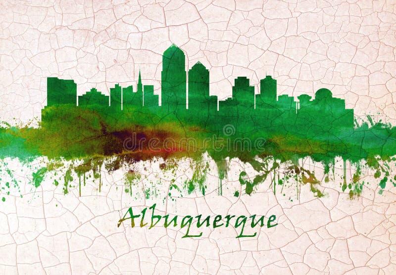 Horizonte de Albuquerque New M?xico ilustración del vector