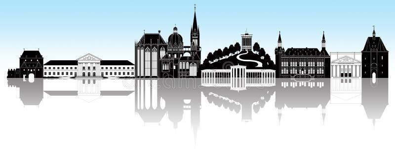 Horizonte de Aquisgrán ilustración del vector