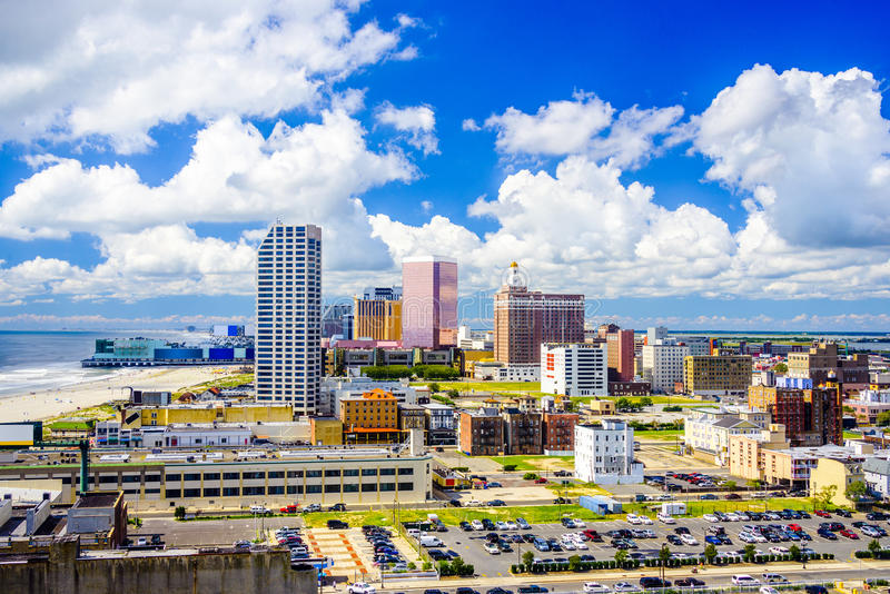 Horizonte de Atlantic City, New Jersey foto de archivo