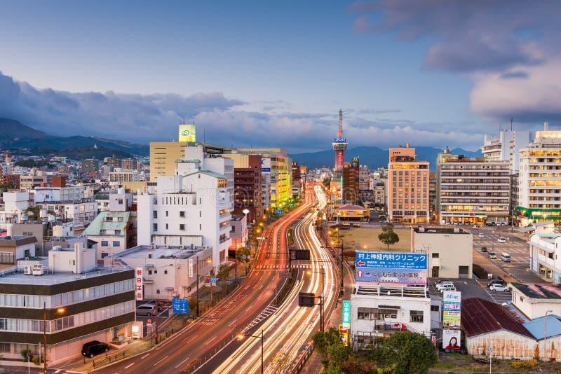Horizonte de Beppu Japón fotos de archivo libres de regalías