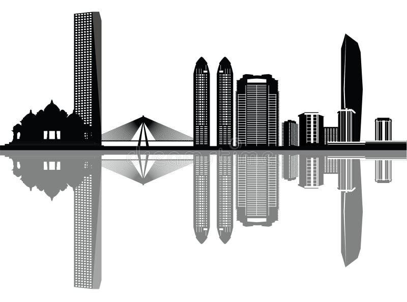 Horizonte de Bombay ilustración del vector