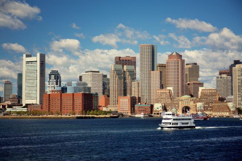 Horizonte de Boston fotografía de archivo libre de regalías