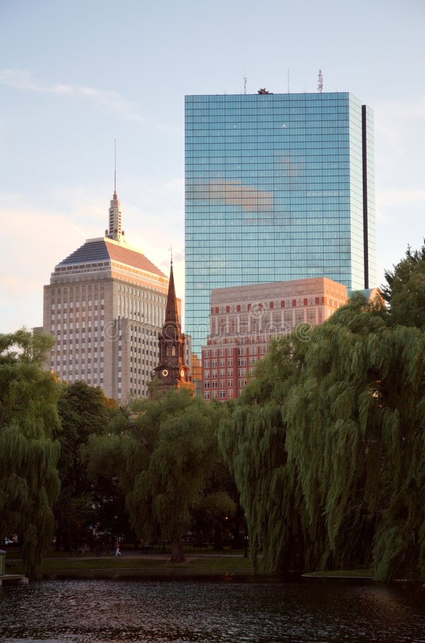 Horizonte de Boston imagen de archivo