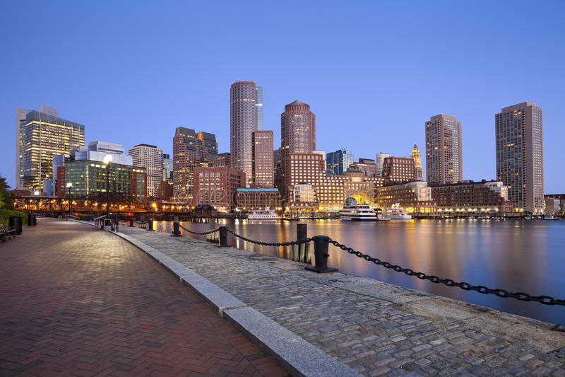 Horizonte de Boston. imagen de archivo