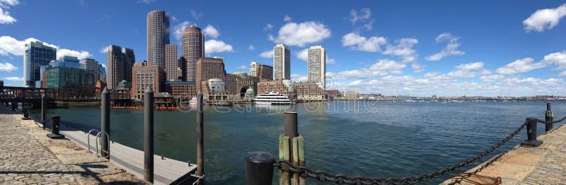 Horizonte de Boston del panorama foto de archivo