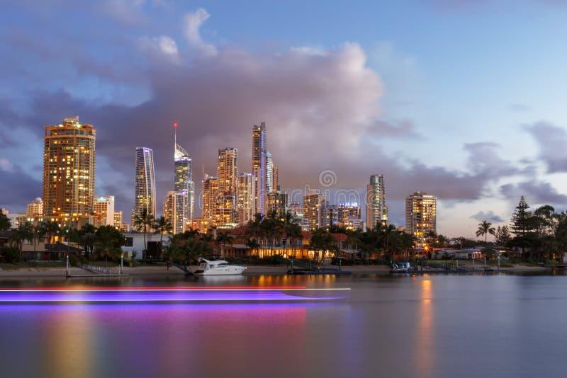 Horizonte de Brisbane, Australia imágenes de archivo libres de regalías