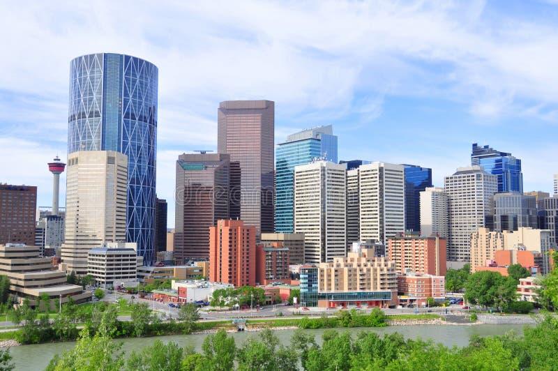 Horizonte de Calgary fotos de archivo libres de regalías