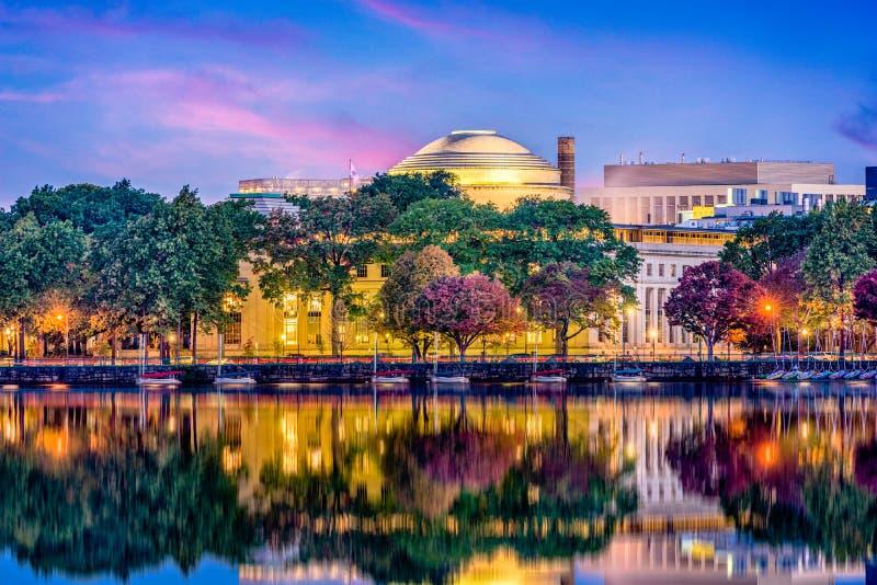 Horizonte de Cambridge Massachusetts fotos de archivo libres de regalías